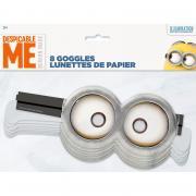 8 Papierbrillen Minions