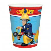 8 Pappbecher Fireman Sam 266ml