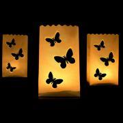 10 Lichtertüten Schmetterling