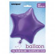 Folienballon Stern 50cmØ Lila