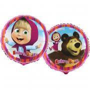 Folienballon Masha und der Bär ø45cm