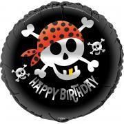 Folienballon Happy Birthday Pirat 45cmØ