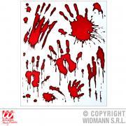 Fenster-Aufkleber blutige Hände