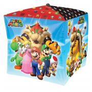 Folienballon Super Mario 4D Würfel