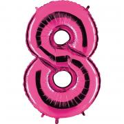 Ballon Riesenzahl Acht 8 Pink