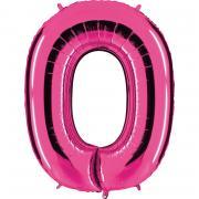 """Ballon Riesenzahl Null 0 Pink 40""""/101cm"""