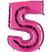 Ballon Riesenzahl Fünf 5 Pink