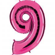 Ballon Riesenzahl Neun 9 Pink