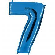 Ballon Riesenzahl Sieben 7 Blau