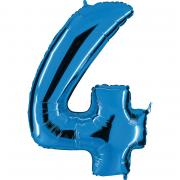 Ballon Riesenzahl Vier 4 Blau