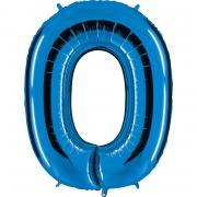 Ballon Riesenzahl Null 0 Blau