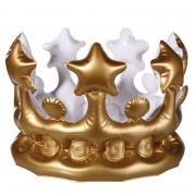 Goldene Krone aufblasbar 23cm