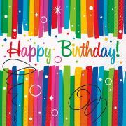 16 Servietten Rainbow Ribbon Birthday 33cm