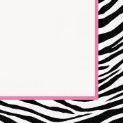 16 Servietten Zebra Pink 33cm
