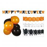 Dekoset Halloween Girlanden & Ballons