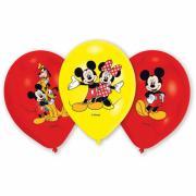 6 Latexballons Micky & Minnie ø28cm