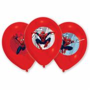 6 Latexballons Spider-Man ø28cm