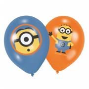 6 Latexballons Minions ø28cm