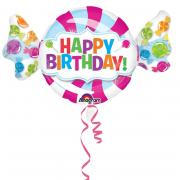 Folienballon Sweet Candy Birthday 101x23cm