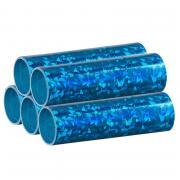 5 Rollen Luftschlangen Blau-Metallic