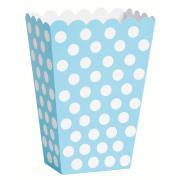 8 Snackboxen Dots Punkte in Hellblau