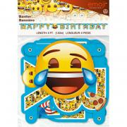 Girlande Emoji Smiley Happy Birthday 1,9m