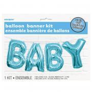 Ballon-Girlande BABY in Blau 274cm