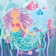 16 Meerjungfrau Servietten