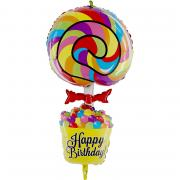 Folienballon Lollipop Birthday 101cm