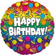 Folienballon Happy Birthday Regenbogen 91cmØ