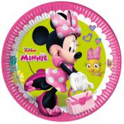 8 Pappteller Minnie Junior ø23cm
