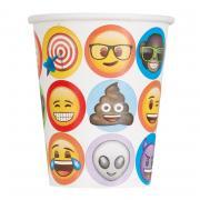 8 Pappbecher Emoji Celebration 266ml