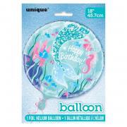 Folienballon Meerjungfrau rund 45cmø