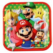 8 Pappteller Super Mario 18cm