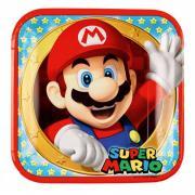 8 Pappteller Super Mario 23cm