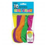 Latexballons Neon bunt 23cmØ 10 Stück
