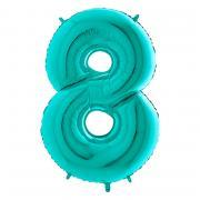 Ballon Riesenzahl #8 TiffanyTürkis