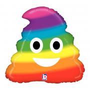 ABC18 Emoji Poo Regenbogen 45cmØ