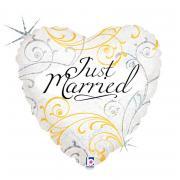 Folienballon Herz Just Married