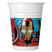 8 Mighty Avengers Plastikbecher 200ml