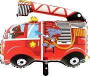Folienballon Feuerwehrauto mit Elefant