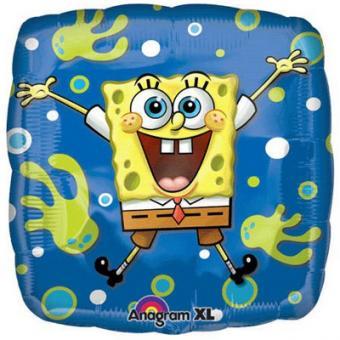 Folienballon SpongeBob quadrat ø45cm