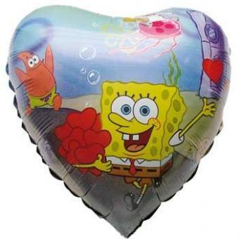 Folienballon SpongeBob Herz ø50cm