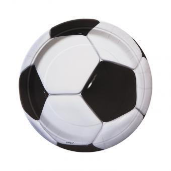 8 Pappteller Fussball ø18cm