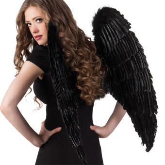 Engelsflügel schwarz 87x72cm