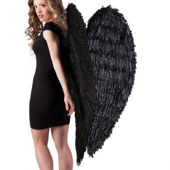 Engelsflügel XL schwarz 120x120cm