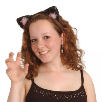 Haarreif Katzenohren Leder