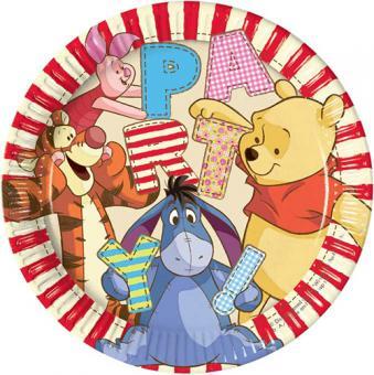 8 Pappteller Winnie Pooh ø23cm