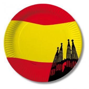 10 Pappteller Spanien ø23cm