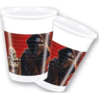 8 Plastikbecher Star Wars VII 200ml